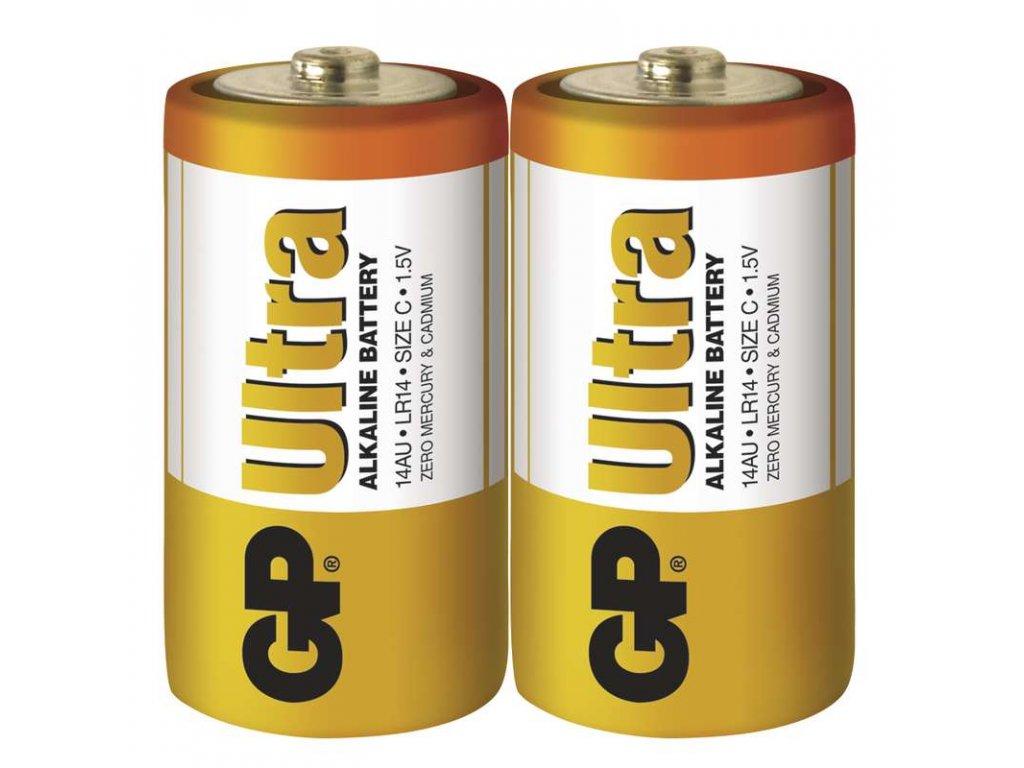 Baterie GP Ultra LR14 (C), fólie (2ks)