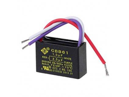 Kondenzátor rozběhový 1,5uF + 2,5uF 250V CBB61