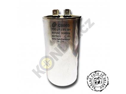 Kondenzátor rozběhový 100uF 450V CBB65