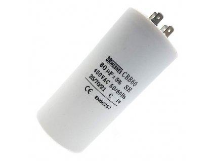Kondenzátor rozběhový 80uF 450V CBB60A
