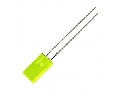 LED 5x2,5mm žlutá 8mcd 110° difuzní