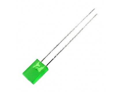 LED 5x2mm zelená 15mcd 100° difuzní
