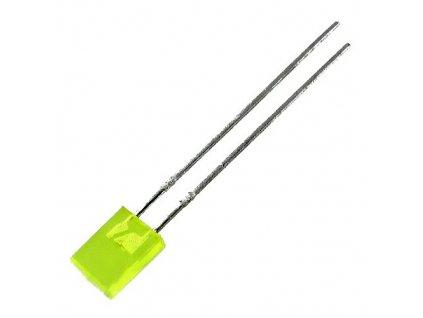 LED 5x2mm žlutá 10mcd 130° difuzní