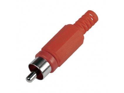 Konektor CINCH vidlice plastový červený