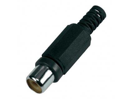 Konektor CINCH zásuvka plastový černý