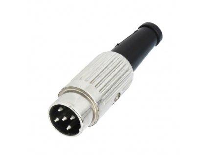 Konektor DIN 5pin 360° vidlice 610-0520