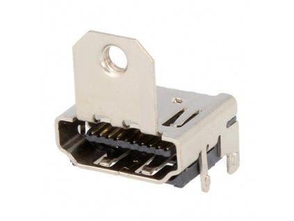 Konektor HDMI zásuvka do DPS s držákem