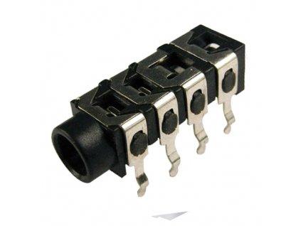 Konektor JACK 3,5mm zásuvka 4pin FC68128