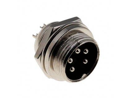 Konektor mikrofonní 6pin vidlice do panelu