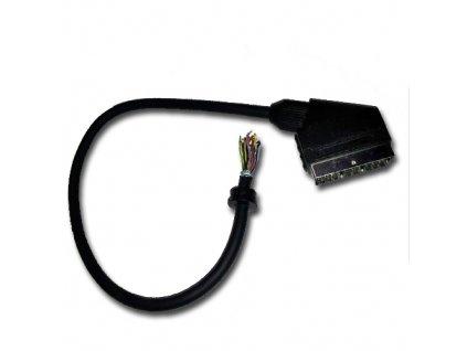Konektor SCART vidlice s kabelem 50cm