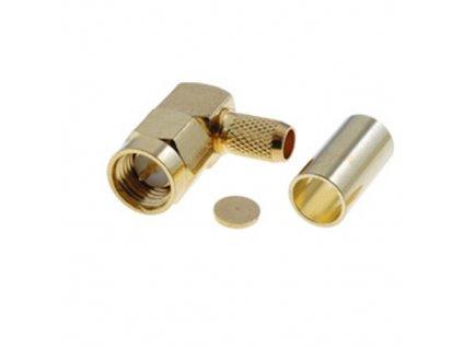 Konektor SMA vidlice úhlová na kabel