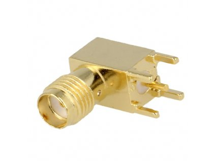 Konektor SMA zásuvka úhlová 90° do DPS