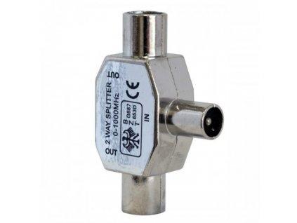 Rozbočovač IEC 169-2 (TV) M/FF kovový