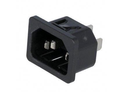 Konektor IEC60320 C14 (E) vidlice 6100.4310