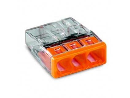 Svorka WAGO 3x2,5 oranžová
