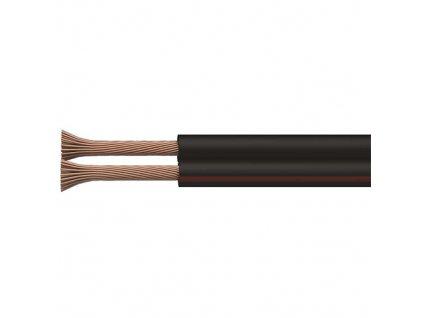 Kabel CYH 2x1,5 černo-rudá