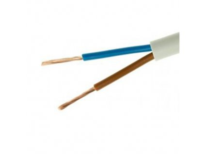 Kabel H03VV-F 2x0,75 ohebný bílý