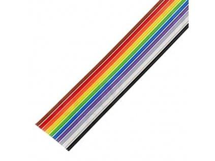 Kabel plochý 28AWG 10 žil 1,27mm barevný