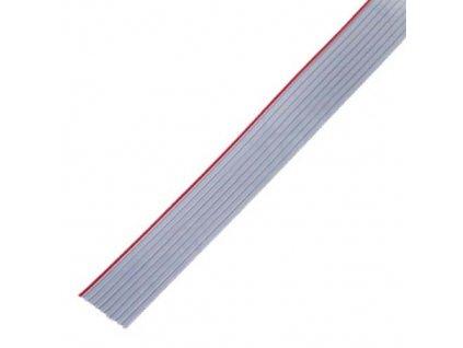 Kabel plochý 28AWG 10 žil 1,27mm šedý