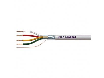 Kabel C295 4x0,22 bílý