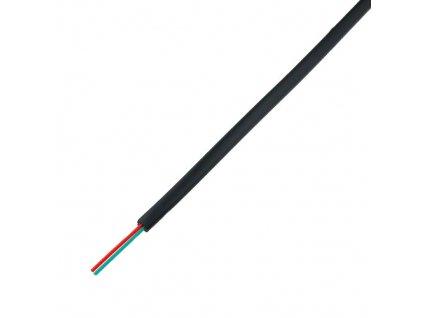 Telefonní kabel 2x28AWG černý