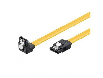Datový kabel SATA 3.0 6GBs 0,5m úhlový 90°