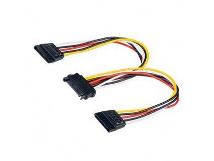 Napájecí kabel SATA - 2x SATA (20cm)