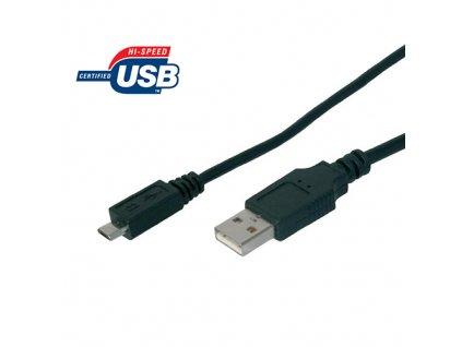 Kabel USB 2.0 - microUSB A-B 1m
