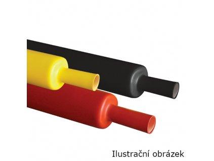Smršťovací bužírka s lepidlem 12mm 4:1 DWT černá (1m)