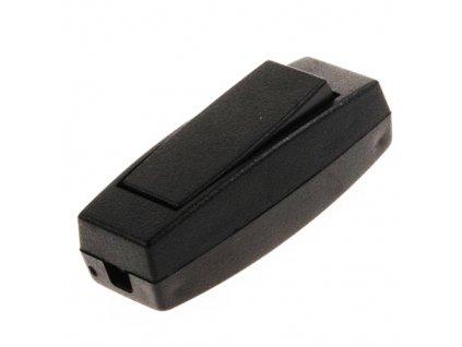 Kolébkový spínač 3251-01910 šňůrový černý