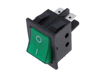 Kolébkový spínač RSI-2013-C3 zelený