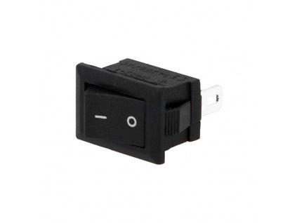 Kolébkový spínač RSM101-C3 mini černý
