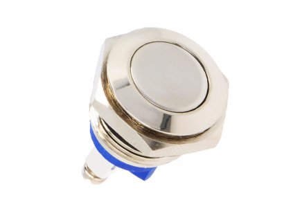 Tlačítko GQ16F-10/N odolné stříbrné