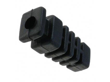 Vývodka pryžová 4mm černá
