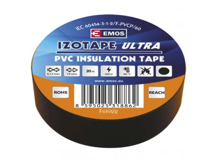 Izolační páska PVC 19mm/20m černá