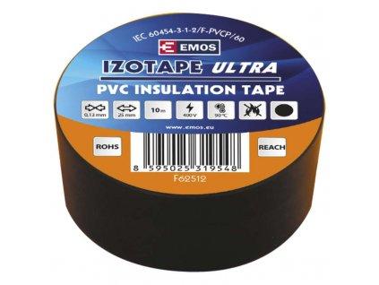 Izolační páska PVC 25mm/10m černá