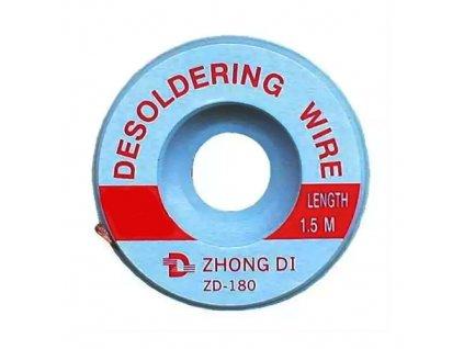 Odsávací knot ZD-180 2mm (1,5m)