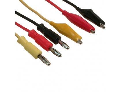 Měřicí kabely s banánky a krokosvorkami 0,8m (3ks)