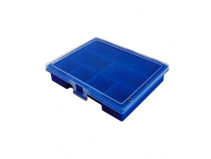 Krabička s přihrádkami jednostranná modrá