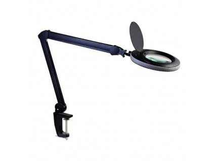 Lupa stolní s LED podsvětlením 8W černá