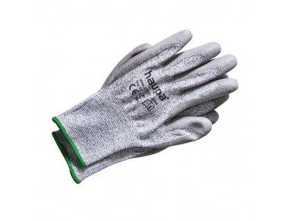 Rukavice proti pořezání, úroveň 5, šedé, vel.9
