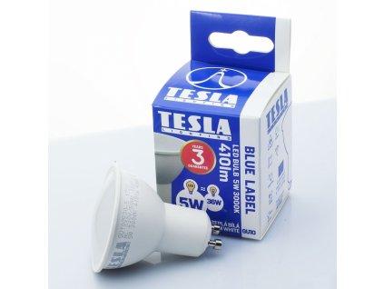 LED žárovka GU10 230V 5W 410lm 3000K bílá teplá