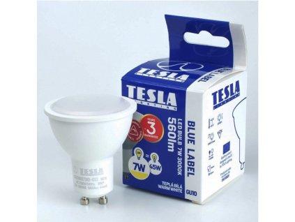 LED žárovka GU10 230V 7W 560lm 3000K bílá teplá