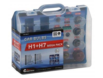 Servisní sada autožárovek H1+H7+pojistky