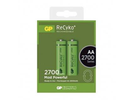Nabíjecí baterie GP ReCyko+ 2700 HR6 (AA), krabička 2ks