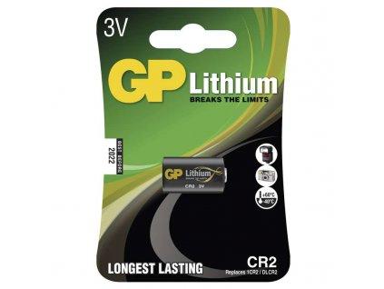 Baterie CR2 3V 850mAh GP