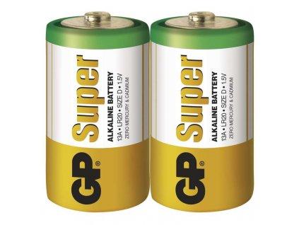 Baterie GP Super LR20 (D), fólie (2ks)