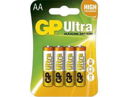 Baterie GP Ultra LR6 (AA), blistr (4ks)