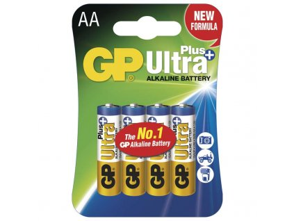 Baterie GP Ultra Plus LR6 (AA), blistr (4ks)