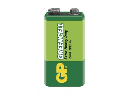 Baterie GP Greencell 9V (6F22), fólie